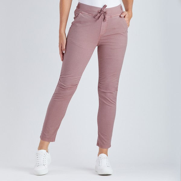 Cotton Jogger Jean - Dusty pink