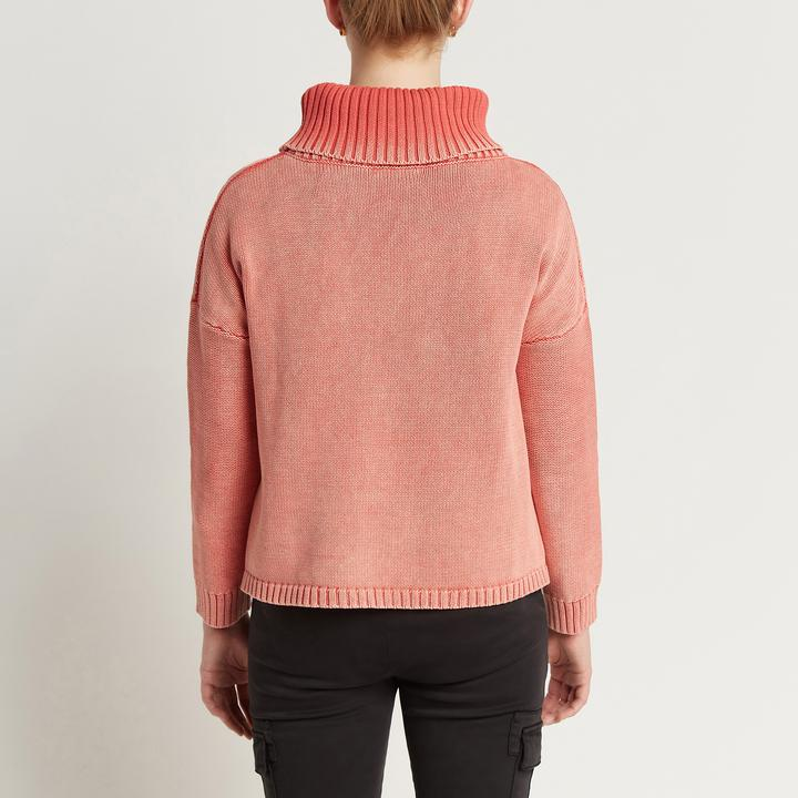 Aria Roll Neck - Washed Ruby