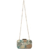 FLORENCE,Metallic Jaquard Clutch-Mint