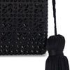 AKOS Crystal Tassel Black Women | Lyn Rose Boutique