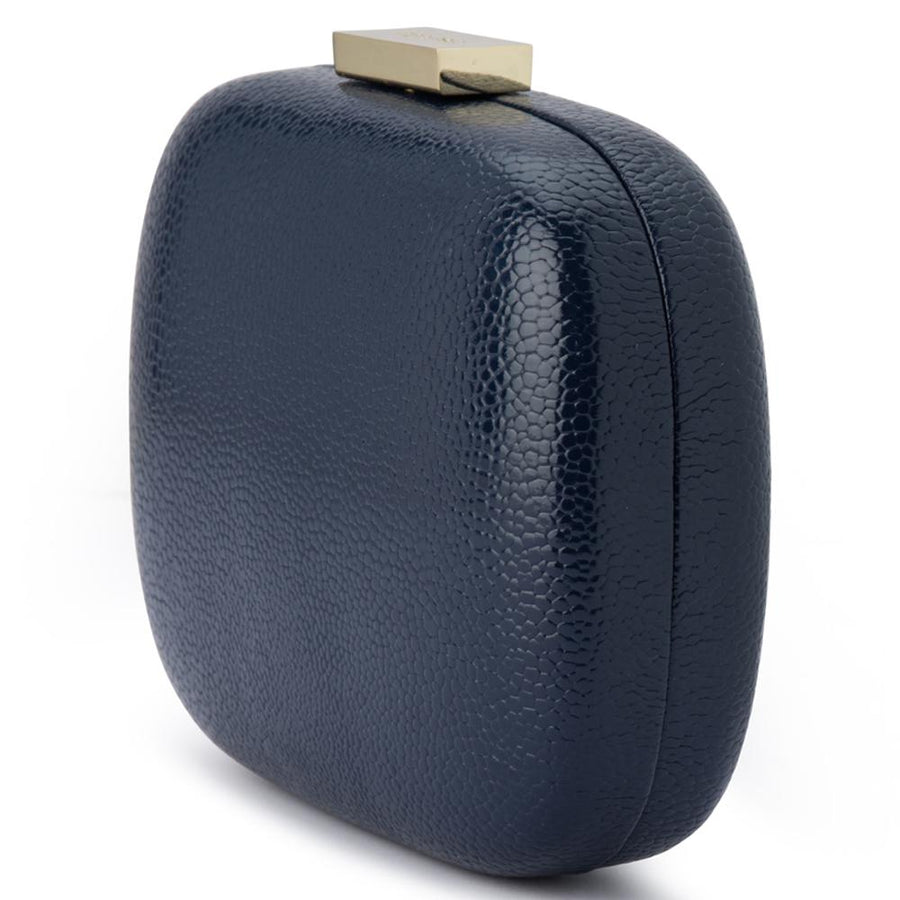 Malia textured clutch - Navy