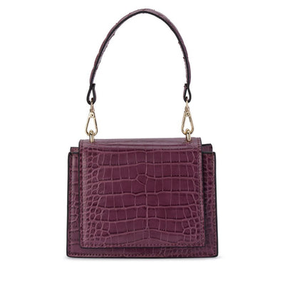 Molli Croc Embossed Burgundy | Lyn Rose Boutique