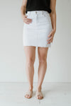 Charlie Denim Women Skirt White | Lyn Rose Boutique