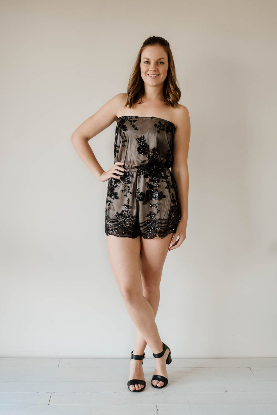 Cleo Sequin Playsuit Women | Lyn Rose Boutique
