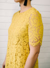 Penelope Lace Dress Women Mustard | Lyn Rose Boutique