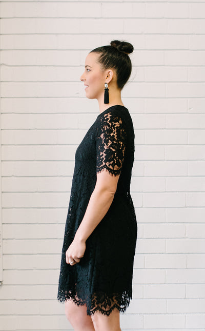 Penelope Lace Dress Women Black | Lyn Rose Boutique