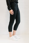 3/4 Zip Jean Black Women | Lyn Rose Boutique
