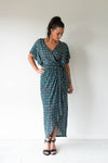 Tulip Wrap Dress/Batik Women | Lyn Rose Boutique