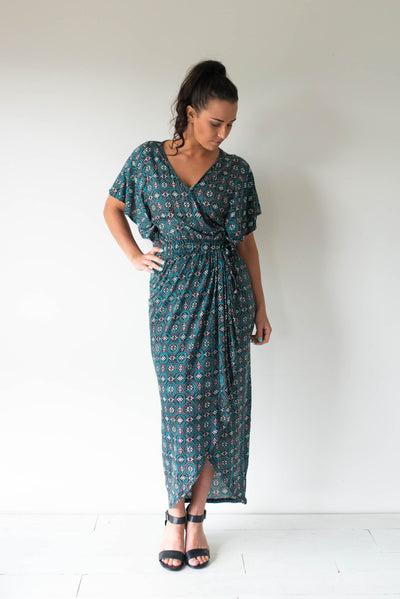 Tulip Wrap Dress/Batik