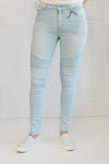 Ribbed Knee Jeans - Light Wash