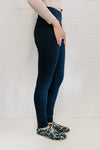 High Waist Ponte Women Pant Navy | Lyn Rose Boutique