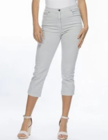 Miracle Jean Crop - Silver