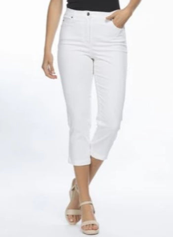 Miracle Jean Crop - White