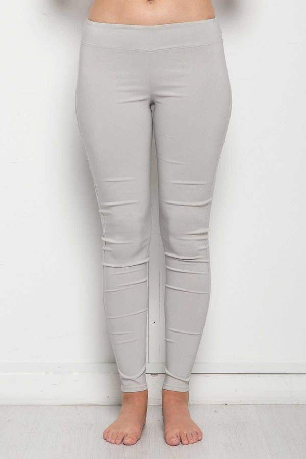 Skinny Leg Stretch Pant - Light Grey