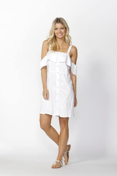 Alexi Button Down Dress Women | Lyn Rose Boutique
