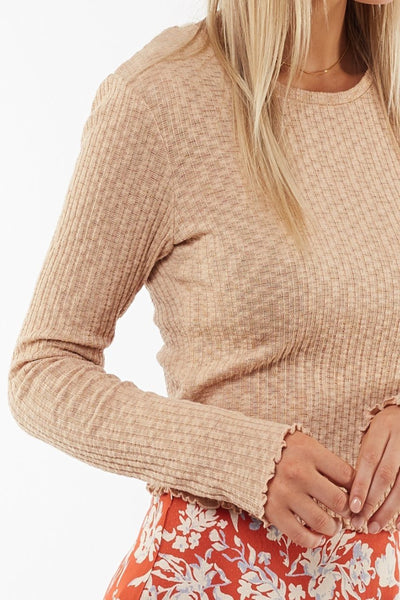 Maya Long Sleeve Tee Sand | Lyn Rose Boutique