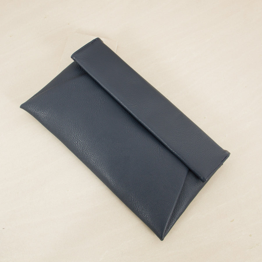 Foldover Clutch Navy | Lyn Rose Boutique