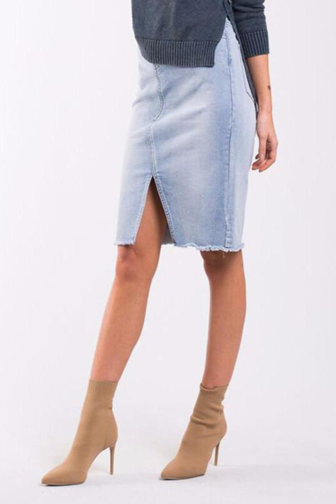Petal Skirt - Denim