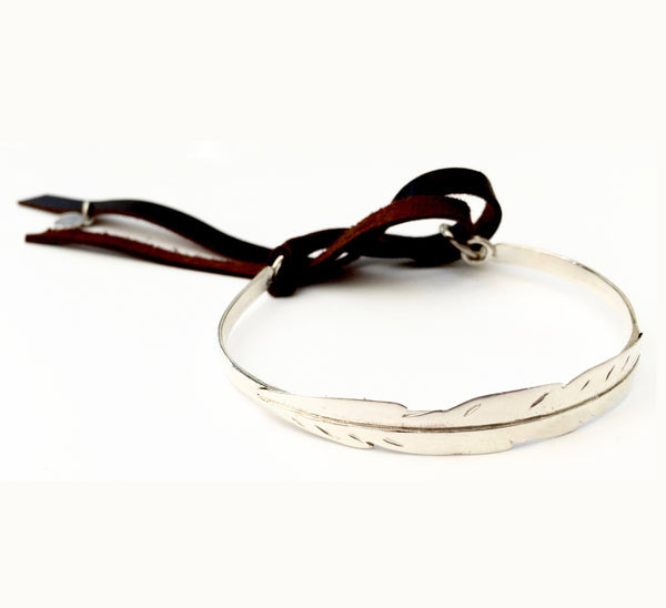 Pulsera Pluma Light Plata