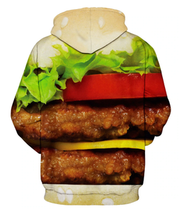 This is a food collection pullover hoodie collection. We have junk food hoodies for men