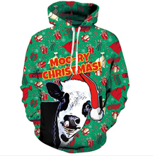Load image into Gallery viewer, Moo-ry Christmas
