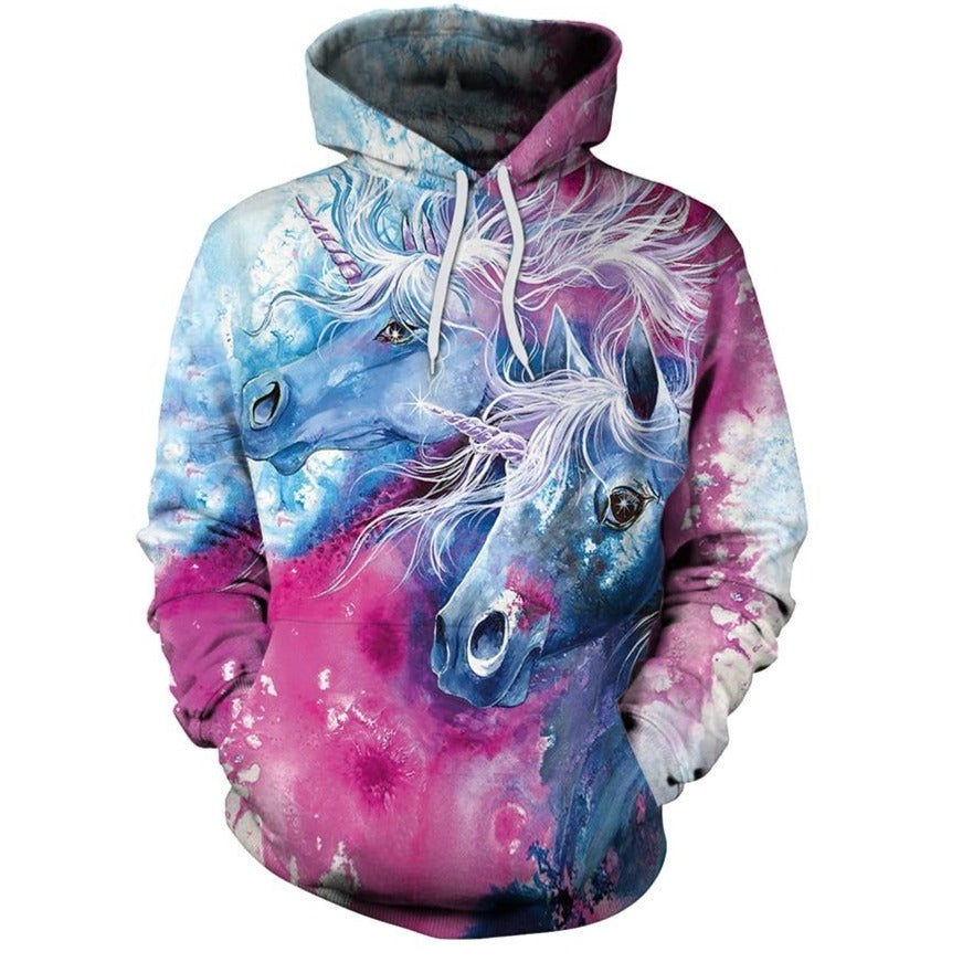 The custom printed hoodie comes with a unicorn printed on it which makes it super cool and adorable.