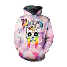 Load image into Gallery viewer, The unicorn hoodie is pure white and looks so magical and cute on girls.