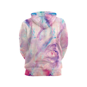 It is a printed hoodie which makes it super adorable and looks cute.