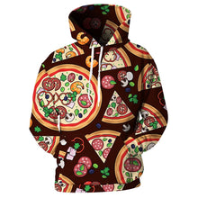 Load image into Gallery viewer, This is a pullover hoodie which has printed pizza on it. This custom hoodie will stand you out from the crowd and look super cool.