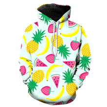 Load image into Gallery viewer, This is a pullover hoodie which has printed fruits on it. This custom hoodie will stand you out from the crowd and look super cool.