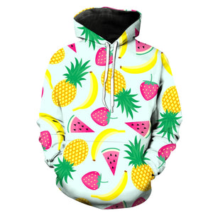 This is a pullover hoodie which has printed fruits on it. This custom hoodie will stand you out from the crowd and look super cool.