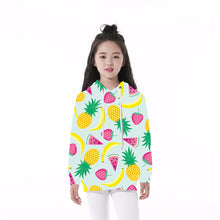 Load image into Gallery viewer, This is a custom hoodie which has printed fruits on it. This printed hoodie will stand you out from the crowd and look super cool.