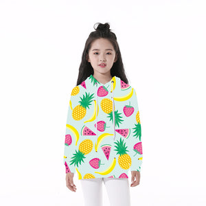 This is a custom hoodie which has printed fruits on it. This printed hoodie will stand you out from the crowd and look super cool.