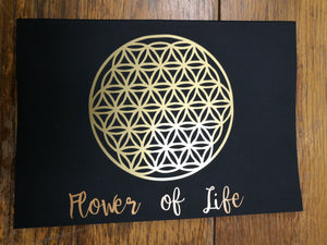 flower of life symbol - black and gold notebook - handmade - from - legacy gifts and accessories