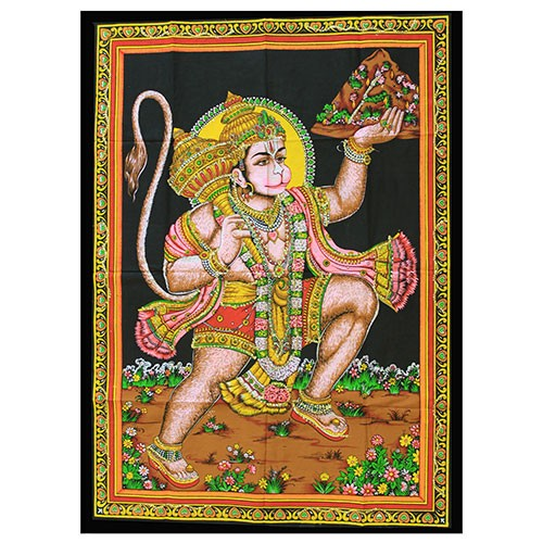Indian wall art - hanuman - wall hanging - made from cotton - from legacy gifts and accessories