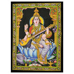 indian-wall-art-saraswati-tapestry-wall hanging-for-the-home-from-legacy gifts and accessories