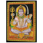 Indian wall art - sitting shiva - wall hanging - made from cotton - from legacy gifts and accessories