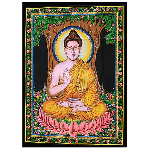 Indian-wall-art-sitting-buddha-poster size-from-legacy gifts and accessories
