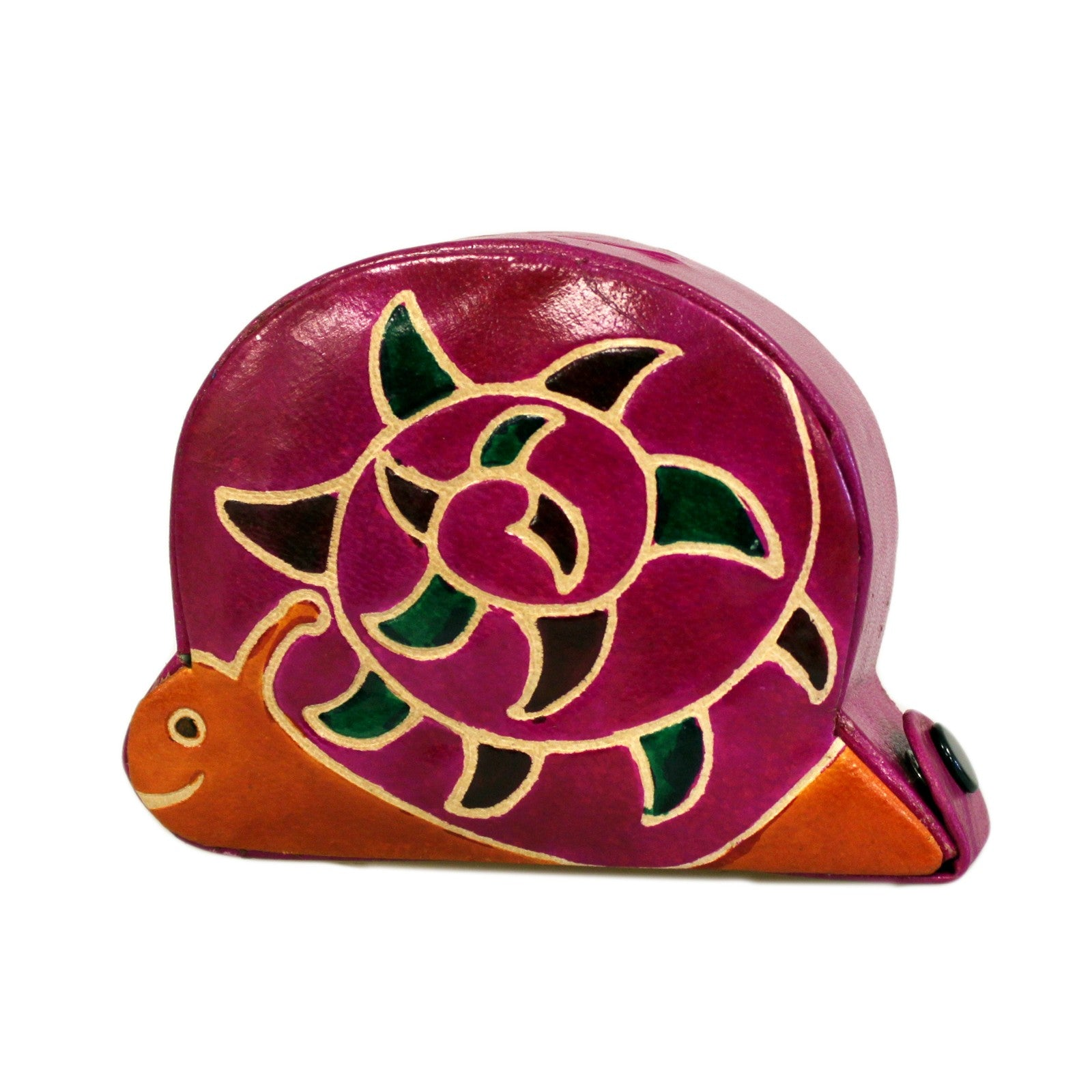 snail money box-made from recycled leather-ecofriendly-from-legacygifts.co.uk