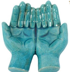 Open-hands-blue-ceramic-ornament-gift-for-home-from-legacygifts.co.uk