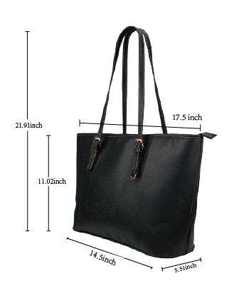 Large Leather Tote Purse Sizing Chart