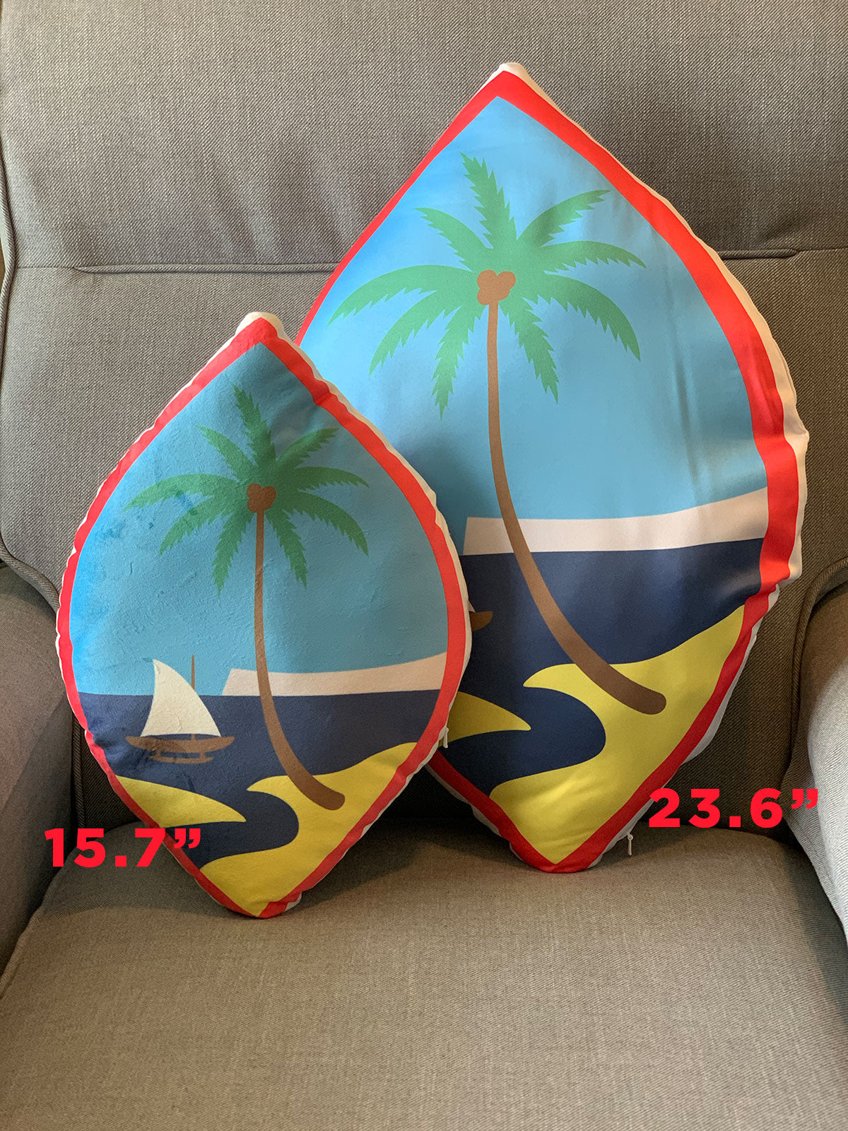 Custom pillow sizing