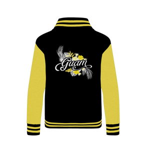 Guam Yellow Floral Varsity Jacket