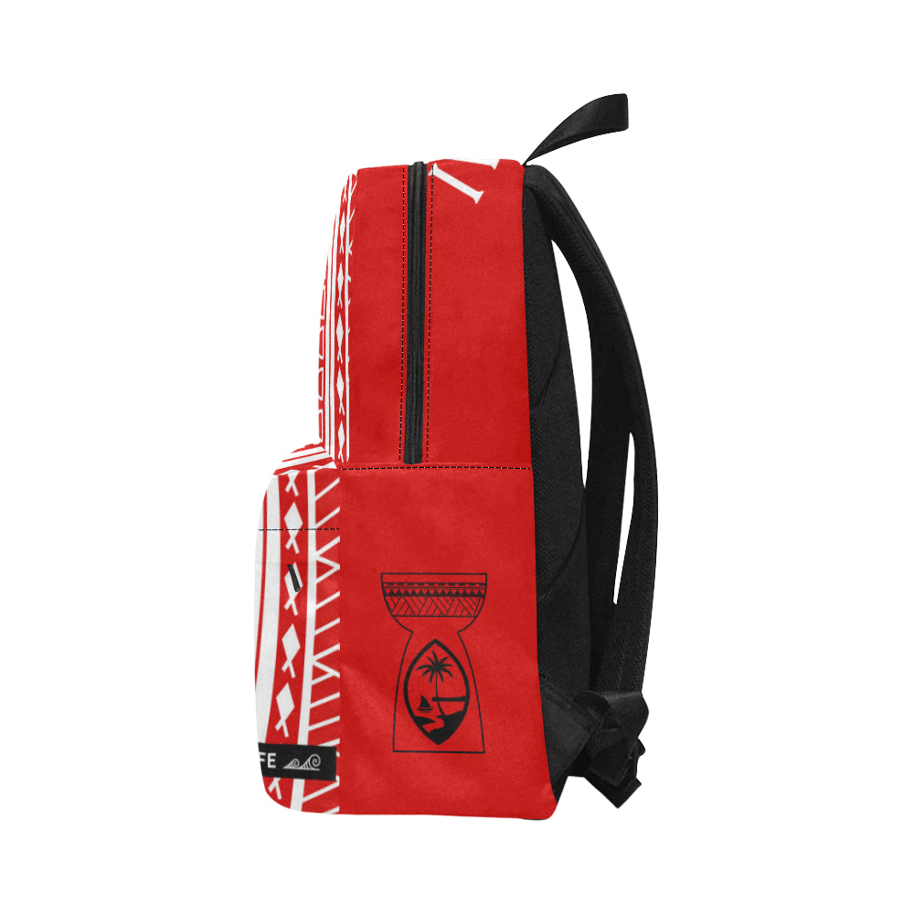 Hafa Adai Guam Tribal Red Unisex Classic Backpack