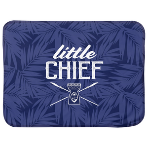 Little Chief Guam Blue Baby Sherpa Blanket