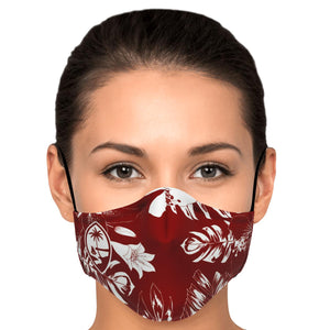 Guam Hibiscus Red Face Mask for Youth and Adults