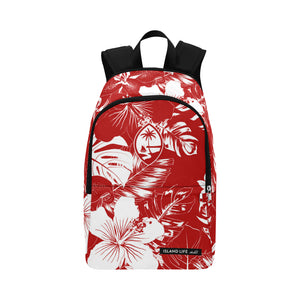 Guam Red Floral Laptop Backpack