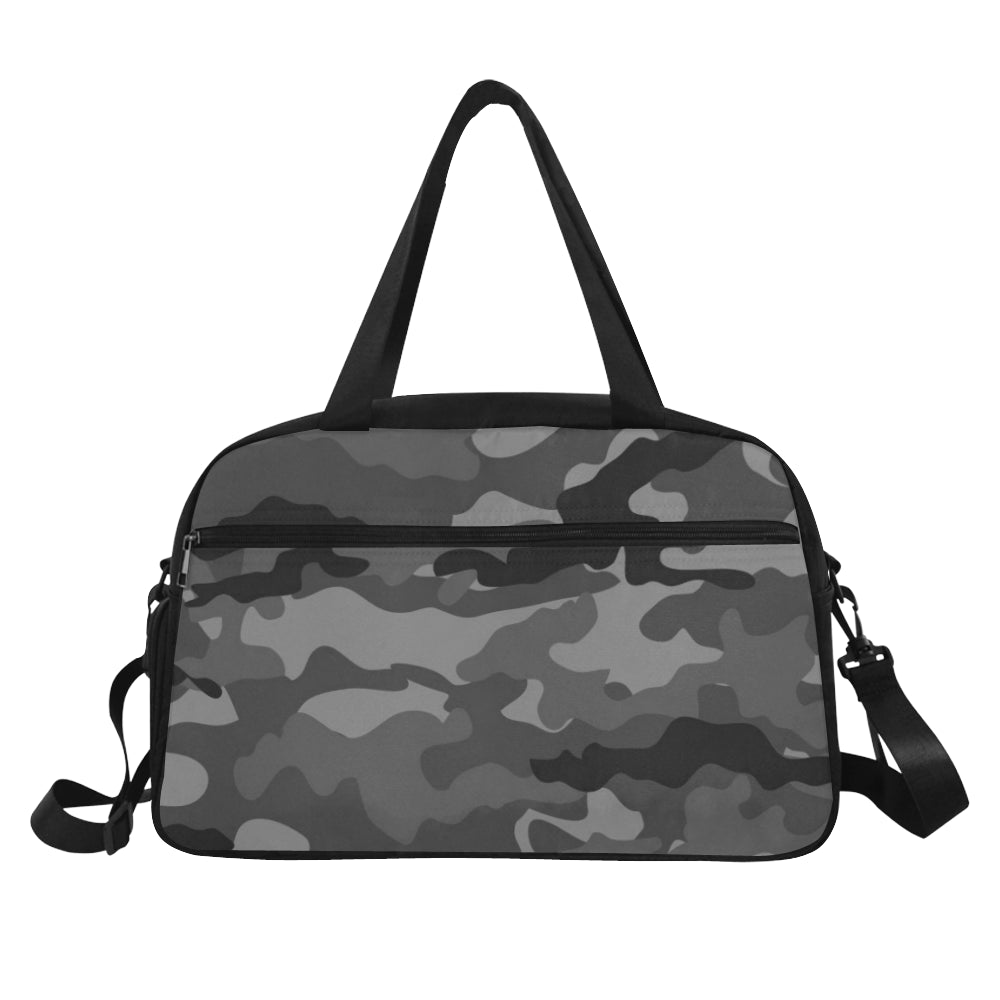 Guam Halftone Gray Camo Fitness Gym Bag