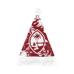 Guam Red Hibiscus Christmas Santa Hat