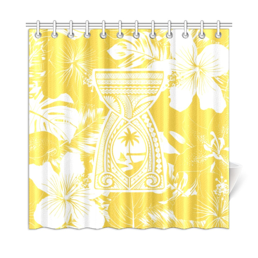 "Latte Stone Tribal Gold Shower Curtain 72""x72"""